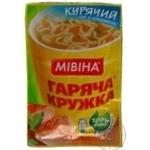 Суп куриный Мивина Горячая кружка с лапшой 15г