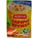 Суп-пюре куриный Мивина Горячая кружка с гренками 12г