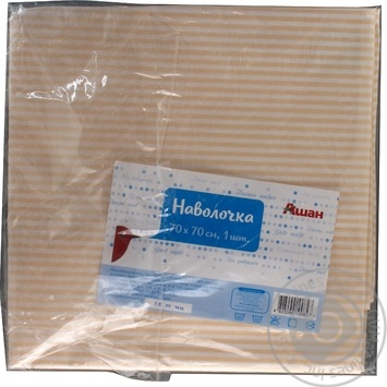 Kozhen den Stripe Pillowcase 70x70cm - buy, prices for Auchan - photo 2