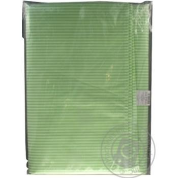 Простыня Ашан зеленая 210x200см - купить, цены на Ашан - фото 4