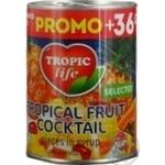Тропічний фруктококтейль Tropic life в сиропі 425мл