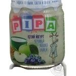 РІРА apple blueberries goat yogurt puree 100g