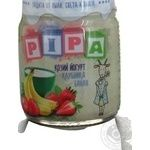 Puree strawberry for children from 6 months 100g glass jar