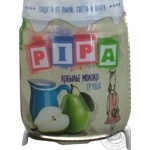 Puree pear with mare milk for children from 6 months 100g glass jar