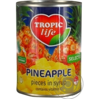 Tropic Life Pineapple Сhops In Syrup - buy, prices for Novus - image 4