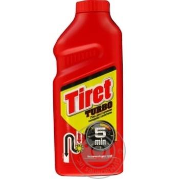 Жидкое средство Tiret Turbo для чистки канализационных труб 500мл