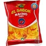 Чипсы начос El Sabor со вкусом чили 100г