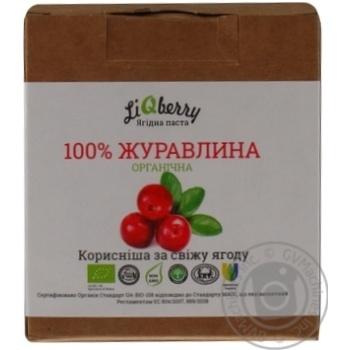 Паста LiQberry из ягод клюквы 550г