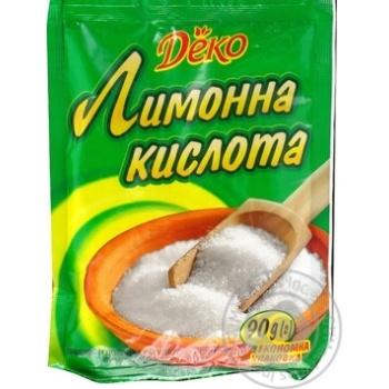 Лимонна кислота Деко 90г - купити, ціни на МегаМаркет - фото 1