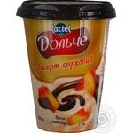 Десерт творожный Дольче Персик-Шоколад 3,4% 400г