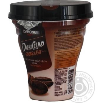 Йогуртный коктейль Даниссимо Shake&go Капучино 5,2% 260г - купить, цены на Novus - фото 2