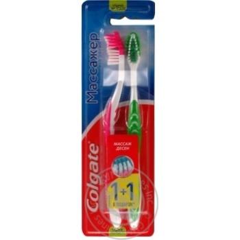 Colgate Massager Toothbrush  Medium 1+1pcs I Assortment - buy, prices for Furshet - image 5