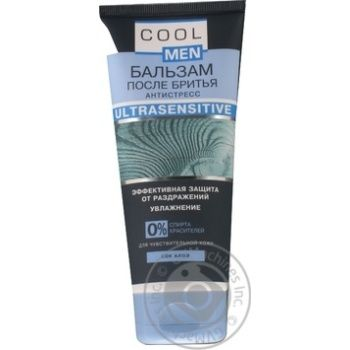 Cool Men Ultrasensitive With Aloe After Shave Balsam