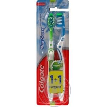 Зубна щітка Colgate Макс Блиск середньої жорсткості 1+1шт - купити, ціни на Ашан - фото 4