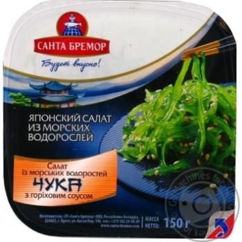 Салат Санта Бремор Чука из морских водорослей с ореховым соусом 150г