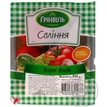 Ассорти овощное Гринвиль 850г