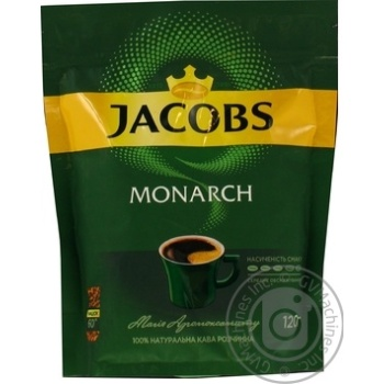 Jacobs Monarch instant coffee 120g - buy, prices for MegaMarket - image 1