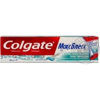 Зубная паста Colgate Макс Блеск отбеливающая 100мл - купить, цены на МегаМаркет - фото 3