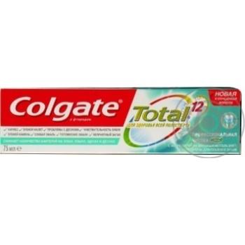 Зубна паста Colgate Total 12 Професійне чищення (гель) комплексна антибактеріальна 75мл - купити, ціни на Фуршет - фото 3