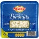 Твоpог Президент Творожная традиция 0,2% 450г