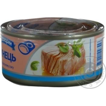 Тунец Аквамарин филе в собственном соку 185г - купить, цены на МегаМаркет - фото 4