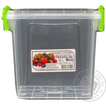 Premium №2 Food container high with lid 161X112X145mm 1,4l - buy, prices for Auchan - photo 6
