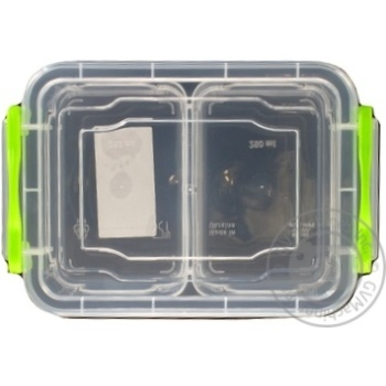Контейнер пищевой Twin двойной с крышкой 162X112X64мм 0,5л - купить, цены на Таврия В - фото 5