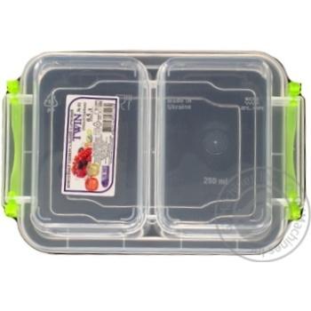 Контейнер пищевой Twin двойной с крышкой 162X112X64мм 0,5л - купить, цены на Таврия В - фото 6