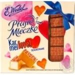 Конфеты E.Wedel Птичье молоко с карамельной начинкой в белом шоколаде 380г