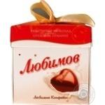 Конфеты Любимов в молочном шоколаде с ореховым пралине 208г - купить, цены на Фуршет - фото 2
