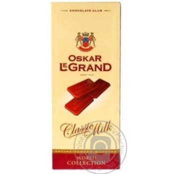 Шоколад молочный Oscar Le Grand экстра-тонкий 82г - купить, цены на Ашан - фото 3