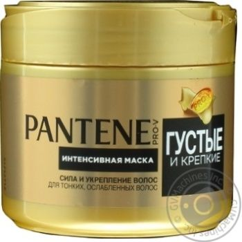 Маска Pantene Pro-V Густые и Крепкие для тонких ослабленных волос 300мл - купить, цены на Novus - фото 1