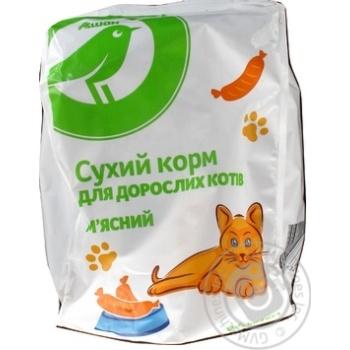 Сухой корм Ашан для взрослых кошек мясной 400г