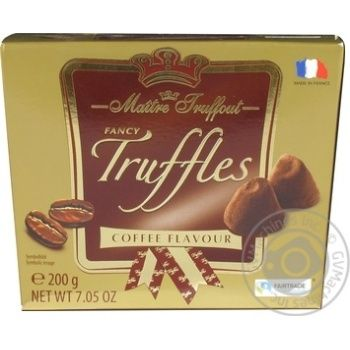 Maitre Truffout Fancy Trussles Candies with Coffee Flavor 200g