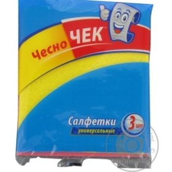 Серветки універсальні ЧесноЧек 3шт - купить, цены на Фуршет - фото 2