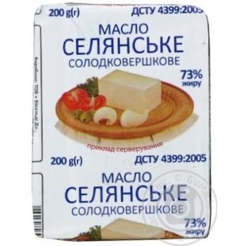 Selyanskoye Butter 73% 200g - buy, prices for Furshet - image 1