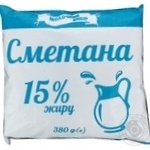 Сметана Молочний вибір 15% 380г - купити, ціни на Фуршет - фото 1