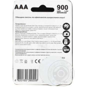 Акумулятор Toshimi AАA NiMn 900mAh 2шт - купити, ціни на Фуршет - фото 2