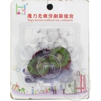 Подставка для зубных щеток на присоске - купить, цены на Фуршет - фото 1
