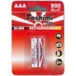 Toshimi Battery AAA NiMn 800mAh 2pc - buy, prices for Furshet - image 1