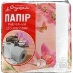 Папір туалетний Фуршет 2-х шаровий білий 8шт - купити, ціни на Фуршет - фото 1