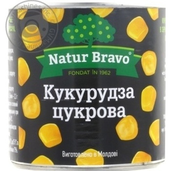 Corn Natur Bravo can 425ml - buy, prices for Furshet - image 1