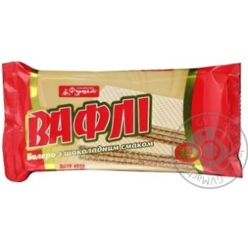 Вафли Фуршет Болеро шоколадный вкус 80г - купить, цены на Фуршет - фото 3
