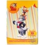 Картон кольоровий 10арк.А4 Cool for School Tom and Jerry TJ02200