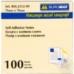 Блок для нотаток BuroМax 100арк., асорті 76*76мм