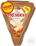 Сыр Президент Бри мягкий с орехами 60% 125г Польша