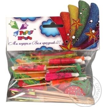 Набір Party House Шпильки фрукт,парасольки,дощ.шпаж 40шт - купити, ціни на CітіМаркет - фото 1