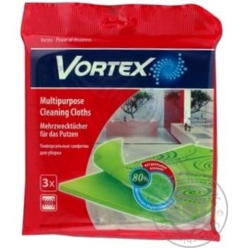 Серветки Vortex універсальні для прибирання 3шт - купить, цены на Novus - фото 1