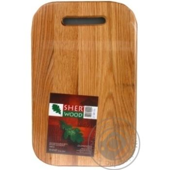 Дошка кухонна Sher Wood 23x36 прямоуг 0021D - купити, ціни на МегаМаркет - фото 1