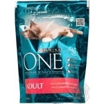 Food Purina one with rice dry for cats 200g France